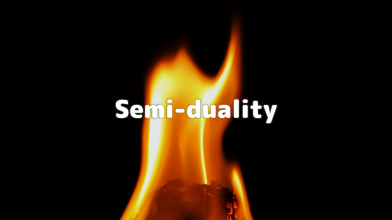アイキャッチ:「準双対関係」、蛾と燃え盛る炎